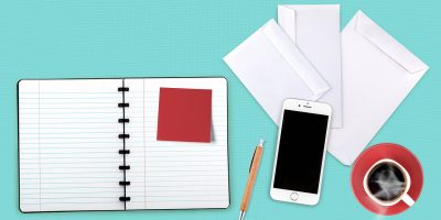 notebook, notes, desk